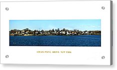 Locust Point Bronx New York Acrylic Print