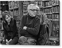Log Cabin Library 8 Acrylic Print by Jim Wright