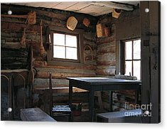 Acrylic Print featuring the photograph Log Cabin by Nicola Fiscarelli