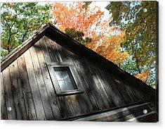 Log Cabin Acrylic Print by Sheryl Burns