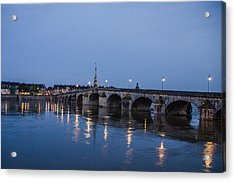 Loire River By Night Acrylic Print