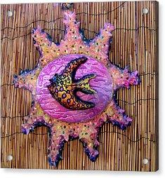 lola the Angel fish Acrylic Print by Dan Townsend