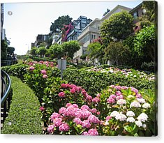 Acrylic Print featuring the photograph Lombard Street by Dany Lison
