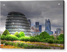 London Art Acrylic Print by Barry R Jones Jr