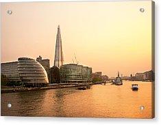 London At Dusk Acrylic Print by Svetlana Sewell