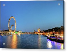 London At Night Acrylic Print by Thank you for choosing my work.