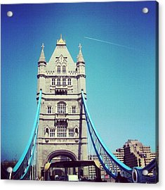 London Bridge, May - 2012 #london Acrylic Print by Abdelrahman Alawwad