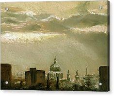 London City Dawn 2 Acrylic Print by Paul Mitchell