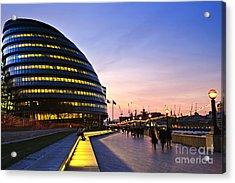 London City Hall At Night Acrylic Print by Elena Elisseeva