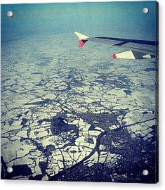 #london Covered With #snow Photo From Acrylic Print