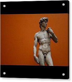 #london #david #michelangelo #sculpture Acrylic Print