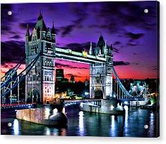 London Evening At Tower Bridge Acrylic Print