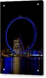 London Eye And River Thames View Acrylic Print