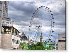 London Eye Acrylic Print by Barry R Jones Jr
