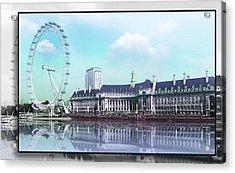 London Eye Acrylic Print by Julie L Hoddinott