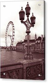 London Eye Acrylic Print by Kathy Yates