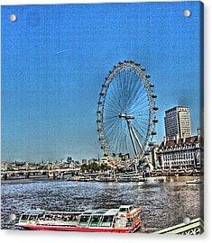 London Eye, #london #londoneye Acrylic Print by Abdelrahman Alawwad