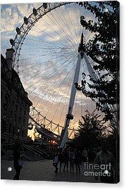 London Eye Acrylic Print by Louise Peardon