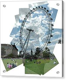 London Eye Panograph Acrylic Print by George Crawford