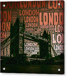 #london Just London Acrylic Print by Ozan Goren