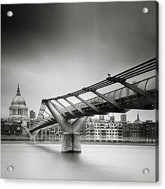 London Millenium Bridge Acrylic Print