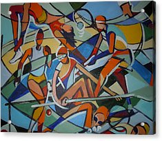 London Olympics Inspired Acrylic Print by Michael Echekoba