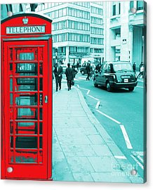 London Phone Booth Acrylic Print