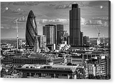 Acrylic Print featuring the photograph London Skyline Bw I by Jack Torcello