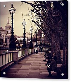 #london #southbank #stpaul Acrylic Print