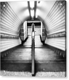 #london #uk May 2012| #underground Acrylic Print by Abdelrahman Alawwad