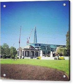 #london #uk #westminster #building Acrylic Print by Abdelrahman Alawwad
