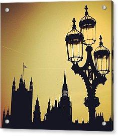 #london #westminster #londoneye #siluet Acrylic Print