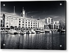 Acrylic Print featuring the photograph London Yachts by Lenny Carter