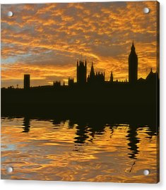 London's Burning Acrylic Print by Sharon Lisa Clarke