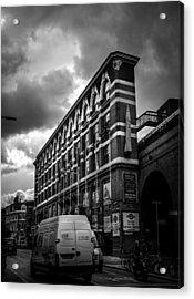 London's Flat Iron Acrylic Print by Lenny Carter