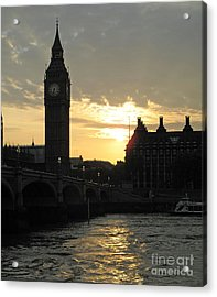 Acrylic Print featuring the photograph London's Golden Glow by Louise Peardon