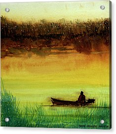 Lone Boatman Acrylic Print