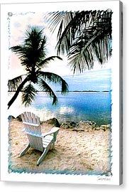 Lone Chair Morada Acrylic Print by Linda Olsen