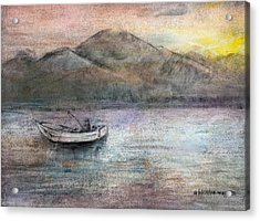 Lone Fisherman Acrylic Print by Arline Wagner