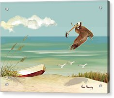 Lone Pelican Acrylic Print