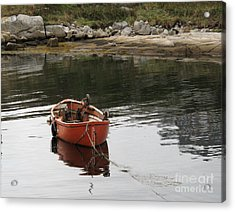 Acrylic Print featuring the photograph Lone Red by Louise Peardon