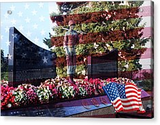 Lone Soldier Memorial Acrylic Print by Kay Novy