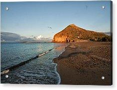 Lonely Beach Acrylic Print by Manolis Tsantakis