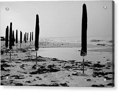 Lonely Beach Acrylic Print by Toni Hopper
