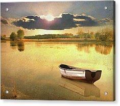 Lonely Boat Acrylic Print by JimPix