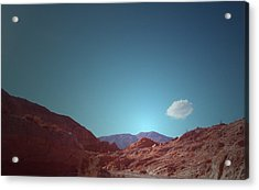 Lonely Cloud Acrylic Print by Naxart Studio