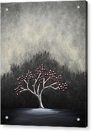 Acrylic Print featuring the painting Lonely by Edwin Alverio
