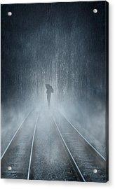 Lonely Figure Acrylic Print by Svetlana Sewell
