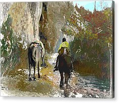 Lonely Move Acrylic Print by Charles Shoup