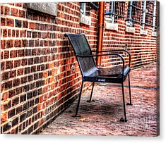 Lonely Seat Acrylic Print by Debbi Granruth